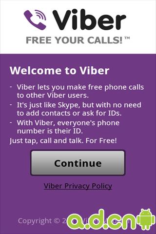 免费网络电话 Viber:Free Calls Messages
