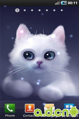 可爱猫咪动态壁纸_截图
