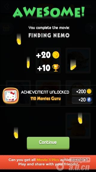 電影裡的3張圖Movie 3 Pics-Trivia for Guru! v1.0.7-Android益智休闲類遊戲下載